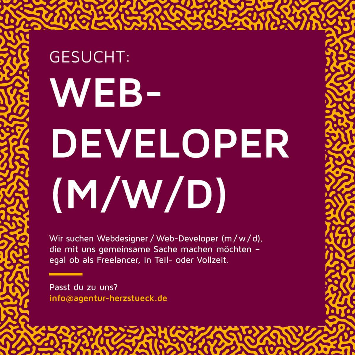 Stellenanzeige Web Developer
