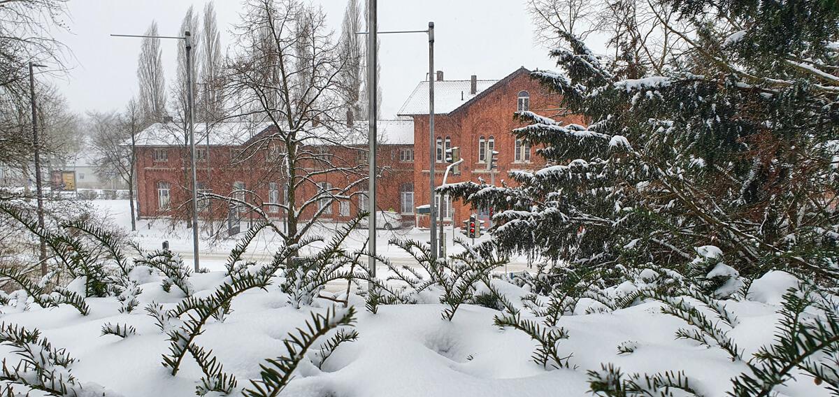 Schneechaos in Bad Salzuflen 2021