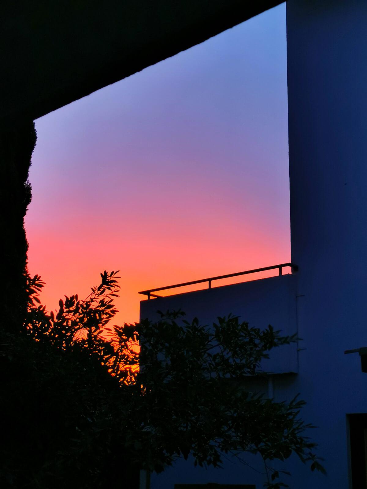 Farbverlauf im Himmel