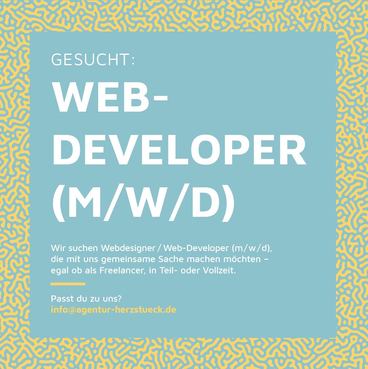 Stellenanzeige Web-Developer