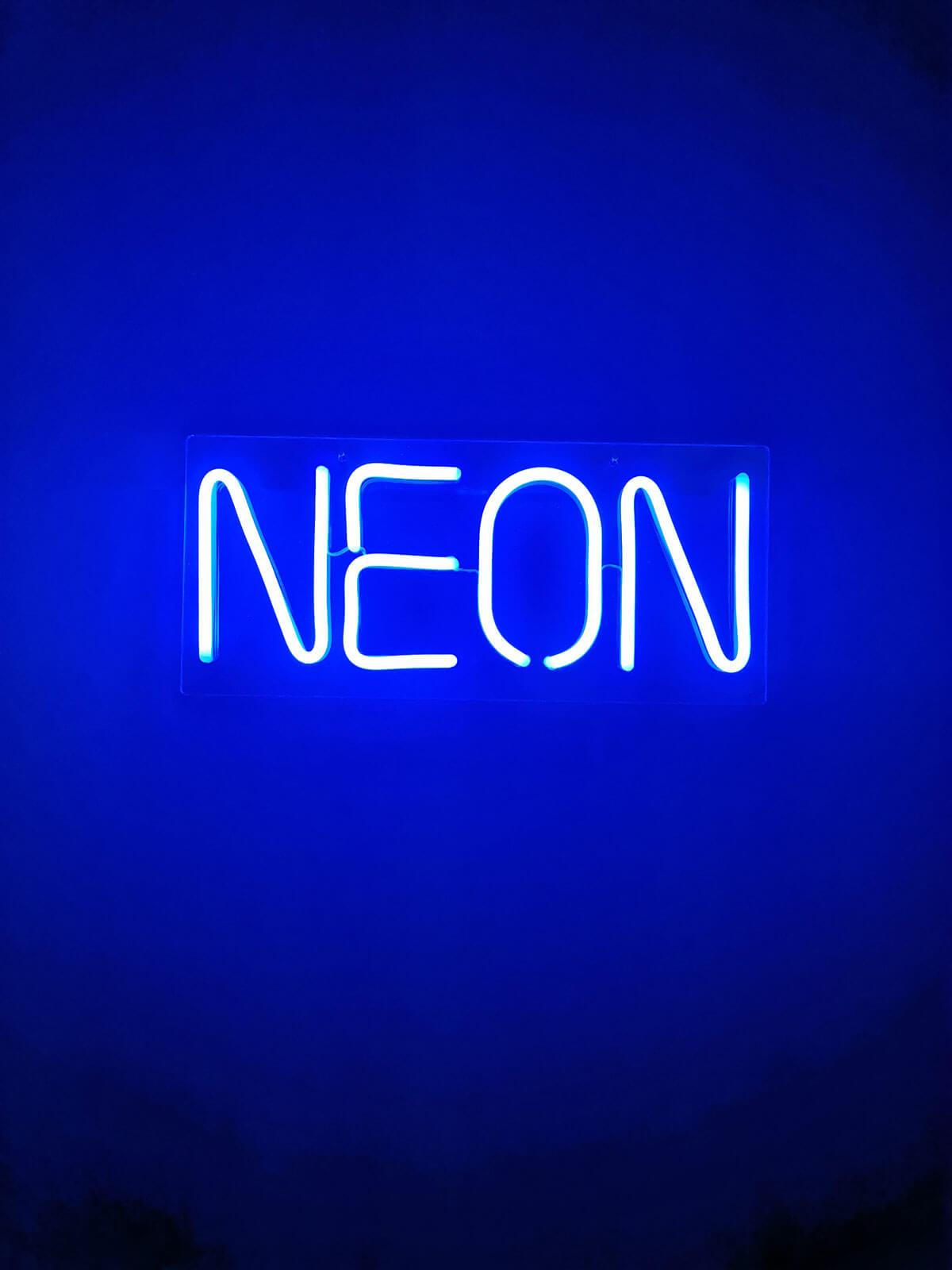NEON Leuchtbuchstaben
