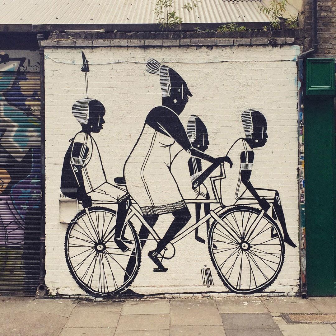 Street Art an einer Mauer