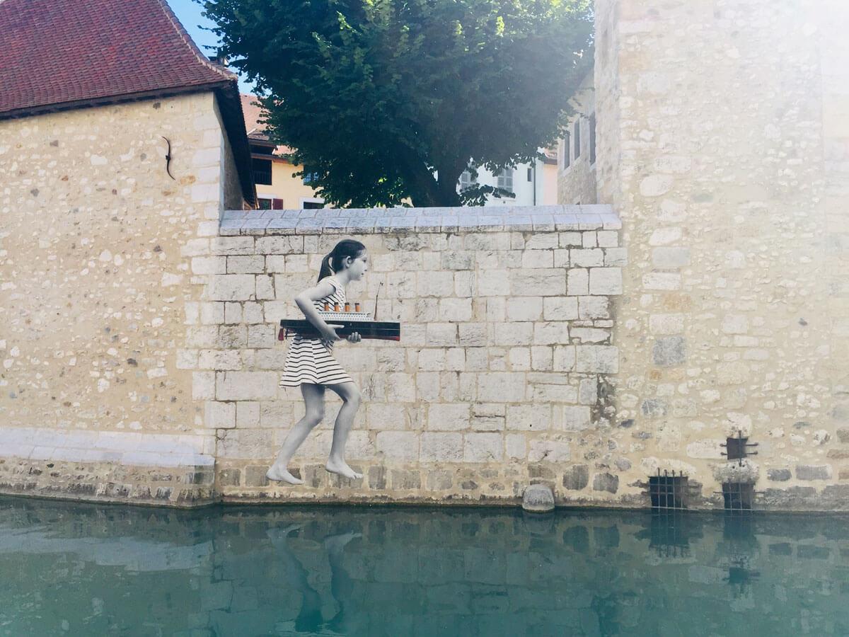 Street Art an einem Kanal
